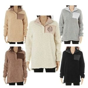 3a2b4cc3a Sweaters - Monogrammed Luxury Sherpa Pullover WITH PATCH
